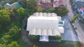 Vista aerea della cappella del villaggio di Park Place fotografie stock