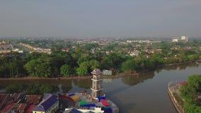 Vista aerea della casa abbandonata in Seremban Malesia video d archivio
