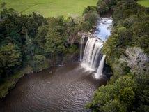 Vista aerea della cascata fotografia stock libera da diritti
