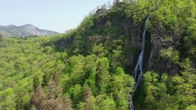 Vista aerea della cascata archivi video