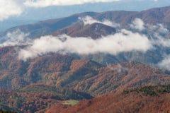 Vista aerea della catena montuosa di Zao Immagine Stock Libera da Diritti