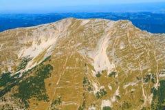 Vista aerea della catena montuosa, montagna di Oetscher Fotografie Stock