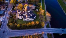 Vista aerea della chiesa di Vilnius Immagine Stock Libera da Diritti
