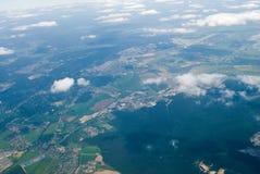 Vista aerea della città fotografia stock libera da diritti