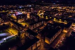 Vista aerea della città alla notte Immagine Stock Libera da Diritti