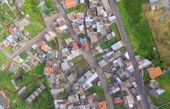 Vista aerea della città dell'America latina nelle Ande Immagini Stock Libere da Diritti