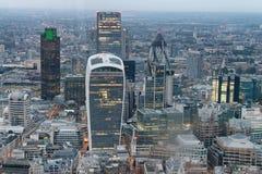 Vista aerea della città dell'orizzonte di Londra fotografie stock libere da diritti