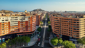 Vista aerea della città di Alicante spain Fotografia Stock