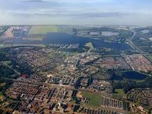 Vista aerea della città di Almere. L'Olanda. Europa Immagine Stock