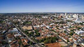 Vista aerea della città di Aracatuba nello stato di Sao Paulo in Brazi fotografie stock