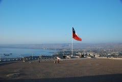 Vista aerea della città di Arica, Cile Fotografia Stock