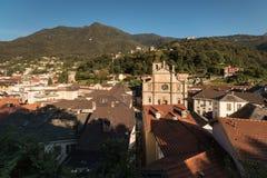 Vista aerea della città di Bellinzona Immagine Stock Libera da Diritti