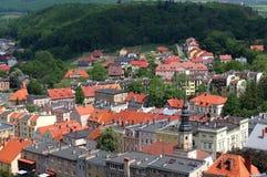Vista aerea della città di Bolkow Immagine Stock Libera da Diritti