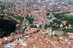 Vista aerea della città di Brasov Fotografia Stock Libera da Diritti