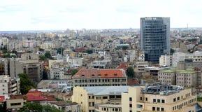 Vista aerea della città di Bucarest Fotografie Stock Libere da Diritti
