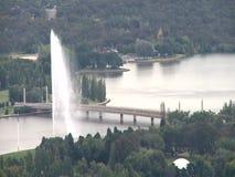 Vista aerea della città di Canberra stock footage
