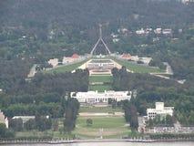 Vista aerea della città di Canberra video d archivio