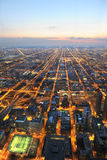 Vista aerea della città di Chicago Immagini Stock Libere da Diritti
