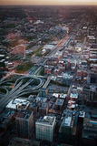 Vista aerea della città di Chicago Fotografie Stock