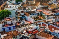 Vista aerea della città di Cordova in Spagna Fotografie Stock