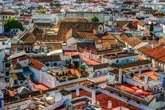 Vista aerea della città di Cordova in Spagna Fotografia Stock Libera da Diritti