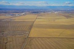 Vista aerea della città di Denver suburbana Fotografie Stock Libere da Diritti