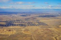 Vista aerea della città di Denver suburbana Fotografia Stock Libera da Diritti