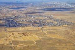 Vista aerea della città di Denver suburbana Immagine Stock Libera da Diritti