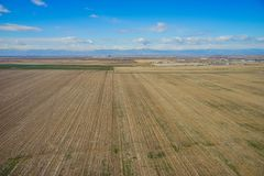 Vista aerea della città di Denver suburbana Immagini Stock