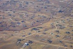 Vista aerea della città di Denver suburbana Fotografie Stock