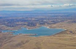 Vista aerea della città di Denver suburbana Immagini Stock Libere da Diritti