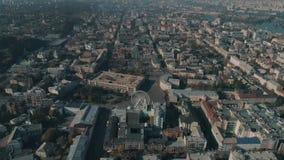 Vista aerea della città di Kiev archivi video