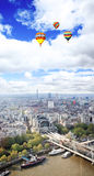Vista aerea della città di Londra Fotografia Stock Libera da Diritti