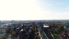 Vista aerea della città di Lutsk archivi video