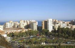 Vista aerea della città di Malaga in Andalusia, Spagna, Europa fotografie stock