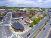 Vista aerea della città di Malden, Massachusetts, U.S.A. immagine stock