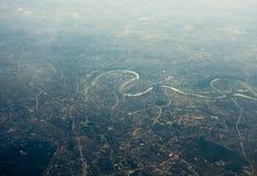 Vista aerea della città di Mosca immagine stock libera da diritti