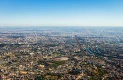 Vista aerea della città di Parigi Fotografia Stock Libera da Diritti