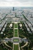 Vista aerea della città di Parigi dalla cima della torre Eiffel Fotografia Stock Libera da Diritti