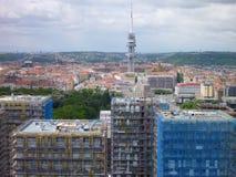Vista aerea della città di Praga da un'allerta Immagini Stock