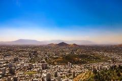 Vista aerea della città di Santiago, Cile fotografia stock libera da diritti