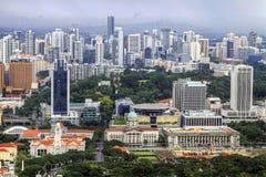 Vista aerea della città di Singapore Fotografia Stock Libera da Diritti