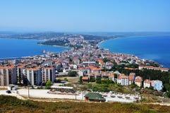 Vista aerea della città di Sinope, Turchia Immagine Stock