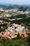 Vista aerea della città di Sintra, Portogallo Fotografia Stock