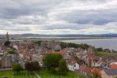 Vista aerea della città di St Andrews Immagini Stock Libere da Diritti