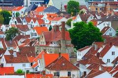 Vista aerea della città di Stavanger, Norvegia fotografia stock