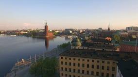 Vista aerea della città di Stoccolma stock footage
