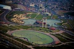 Vista aerea della città di Sulaymaniyah Immagini Stock Libere da Diritti