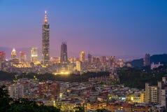 Vista aerea della città di Taipei Fotografia Stock Libera da Diritti