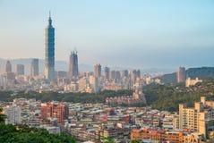 Vista aerea della città di Taipei Fotografia Stock